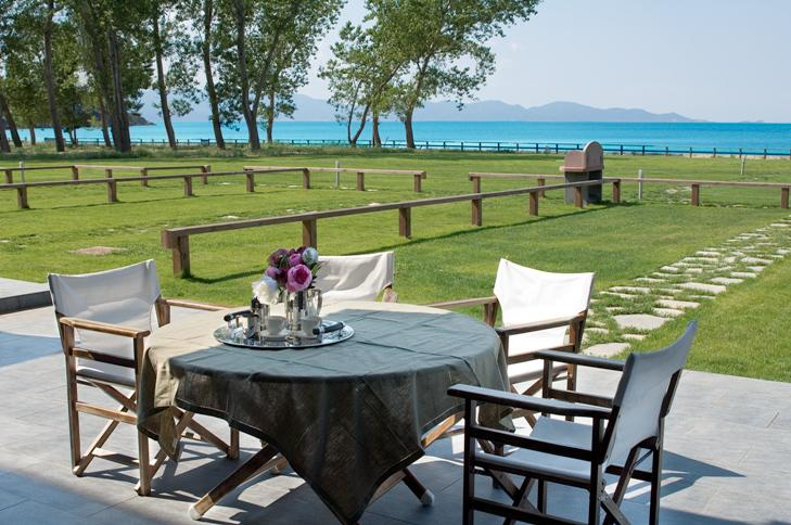 POSIDONAS, Halkidiki-Athos, Greece - In one of the most beautiful places in Halkidiki inside the ancient silver olive grove, a few meters away from the emerald sea is situated a new luxury complex