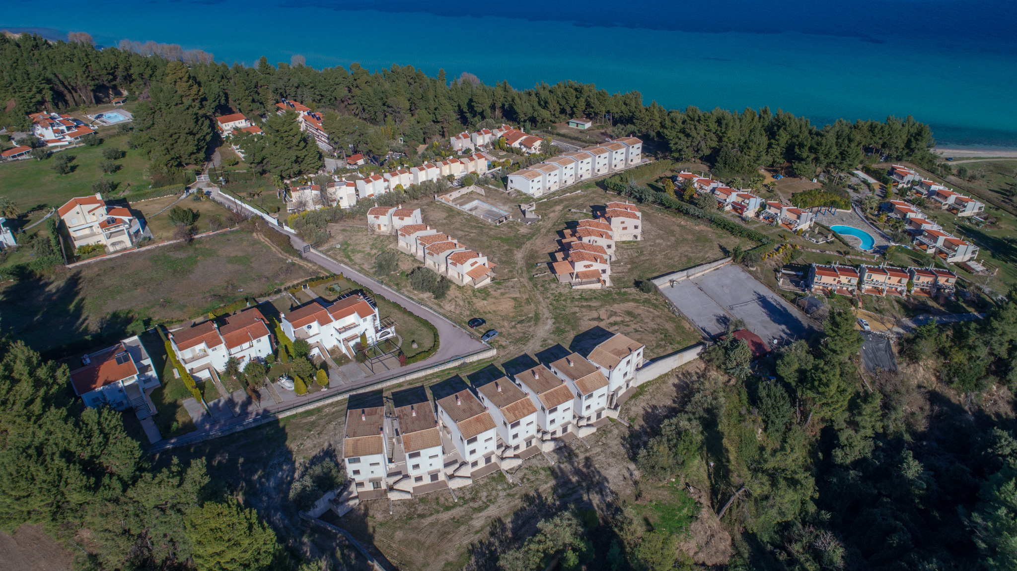 SIVILLI, Halkidiki-Kassandra, Greece -  townhouses by the sea for sale in gated community