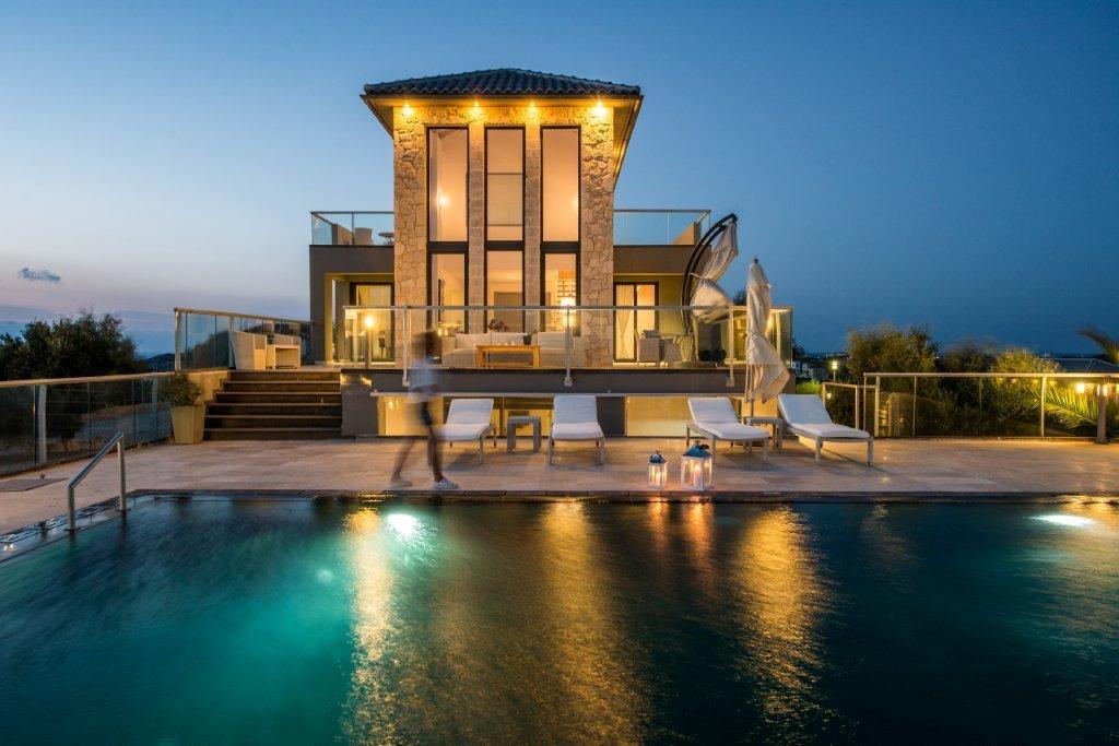 Villa Vinice, Crete, Greece - The complex of exclusive villas on the sea front with ful service. Modern architecture, panoramic windows