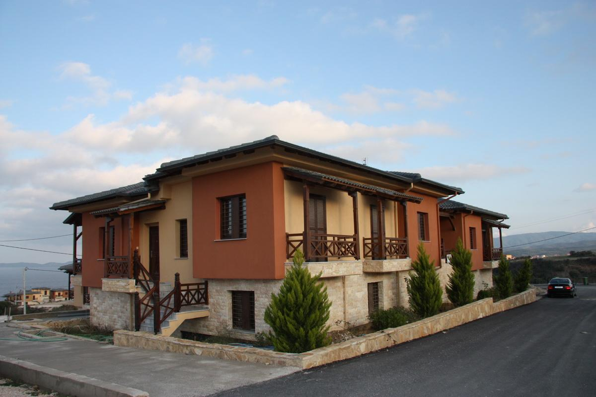 MONASTIKO, Halkidiki-Athos, Greece - The complex of apartments and townhouses on the 1 line of the sea from the marvelous beach with full service.