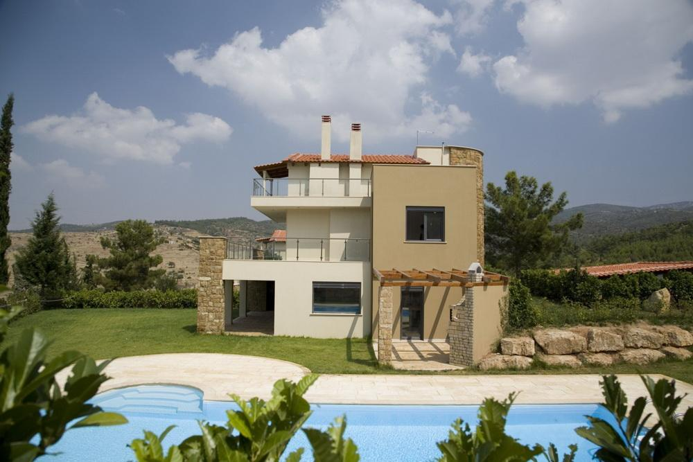 Villa Panorama 1, Central Macedonia, Greece - New modern villa with pool in Thessaloniki for recreation and residence
