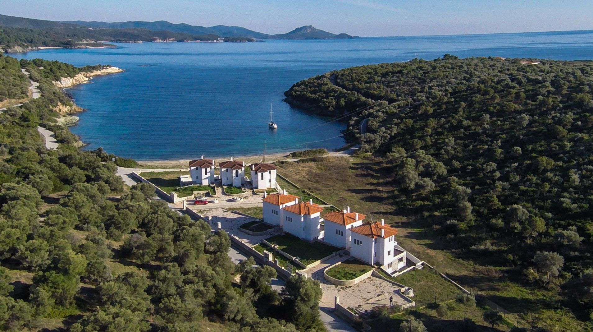 Vafi, Halkidiki-Sithonia, Greece - a new complex of villas in the protected cove in a private beach