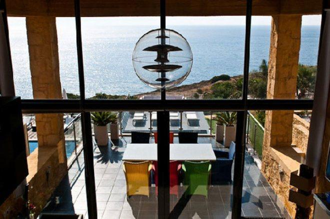 Villa Fusion, Crete, Greece - New stone villa by the sea with shared tennis court for recreation