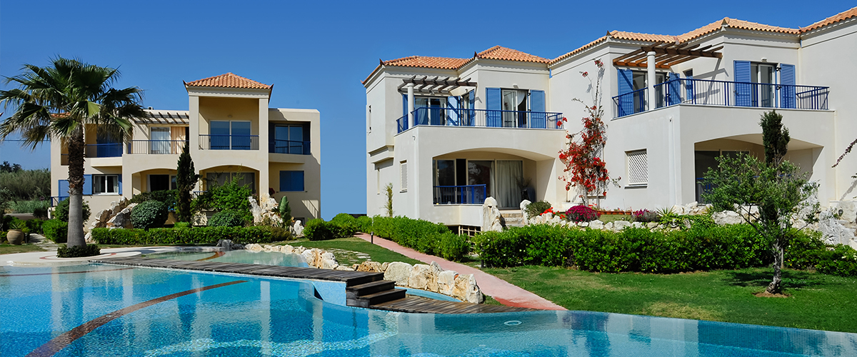 Regata 1, Crete, Greece - The new complex of residences in the Mediterranean architectural style right on the coast with a clean beach with a nice entrance to the sea