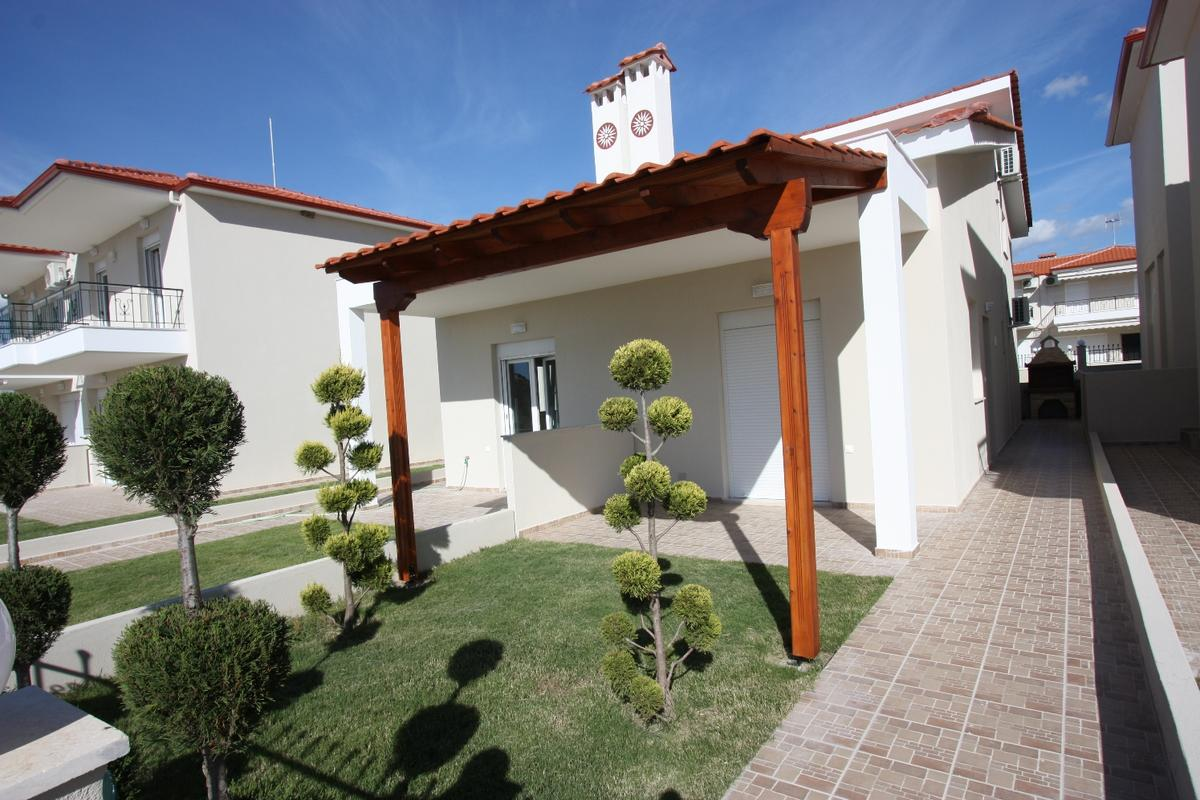 Thimari, Halkidiki-Sithonia, Greece - New semi-detached house in a big village by the Sea. All taxes are included