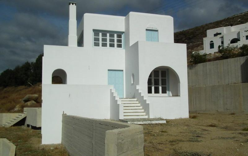 Avlia, Cyclades, Greece - Traditional Cycladic House, a combination of white and blue, an amazing place to relax