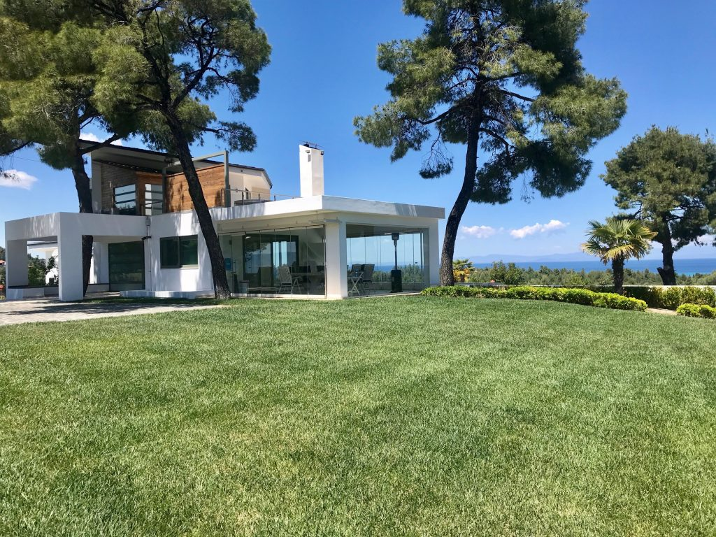 Lemonia, Halkidiki-Kassandra, Greece - 2 new vacation villas with private pool, garden with stunning panoramic sea view