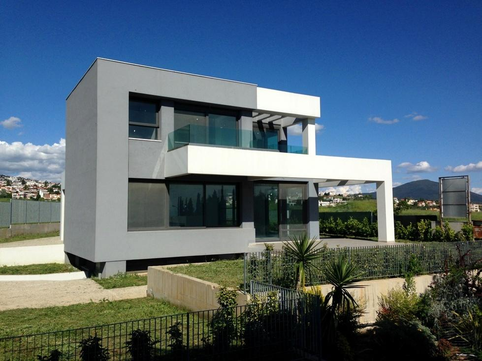 Purnari, Central Macedonia, Greece - new modern villa in Thessaloniki with high level of equipment and construction
