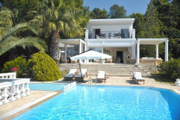 Stella, Ionian Islands, Greece - luxurious modern villa in spectacular location on the north coast of Corfu with wonderful sunset views