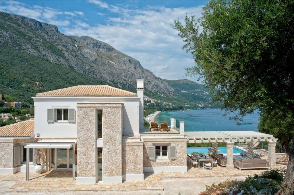 Villa Babati, Ionian Islands, Greece - brand new luxury villa is set in an enviable position at the foot of Barbati beach