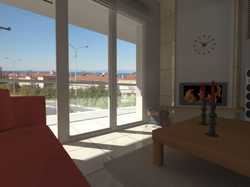 Harama 6, Halkidiki-Kassandra, Greece - big 3 bedroom apartment by the sea for vacation or rent