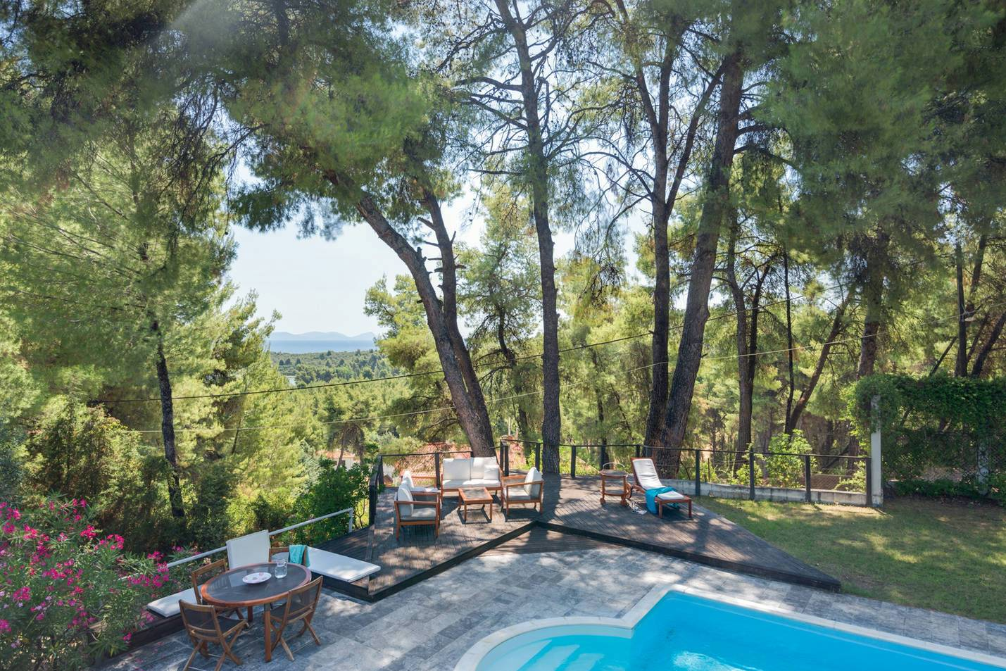 Vangelis, Halkidiki-Kassandra, Greece - 2 floored villa with poll and separate guests' houses