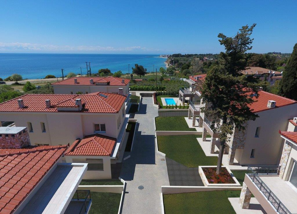 Mesimeri, Halkidiki-Kassandra, Greece - modern gated complex by the sea for vacation or rent