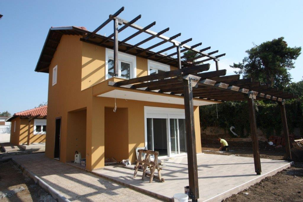 Apollon, Halkidiki-Kassandra, Greece - newly built beachfront cottage for sale