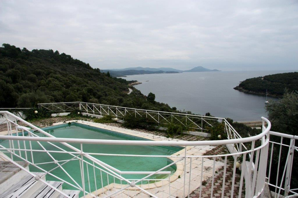Matteo, Halkidiki-Sithonia, Greece -  complex with the pool in a picturesque bay