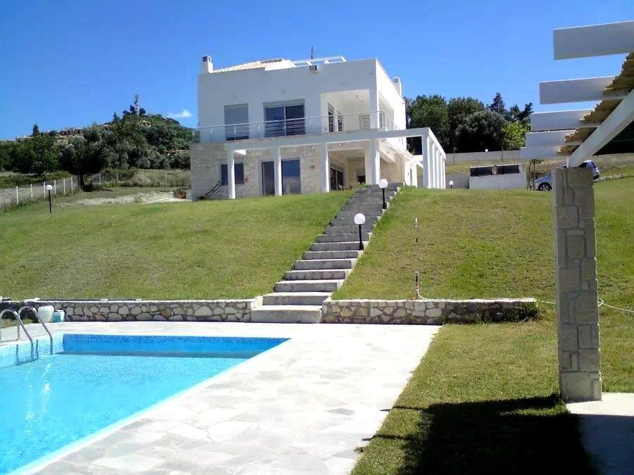 Pefka Panorama, Halkidiki-Kassandra, Greece - modern villa with a pool and stunning panoramic view