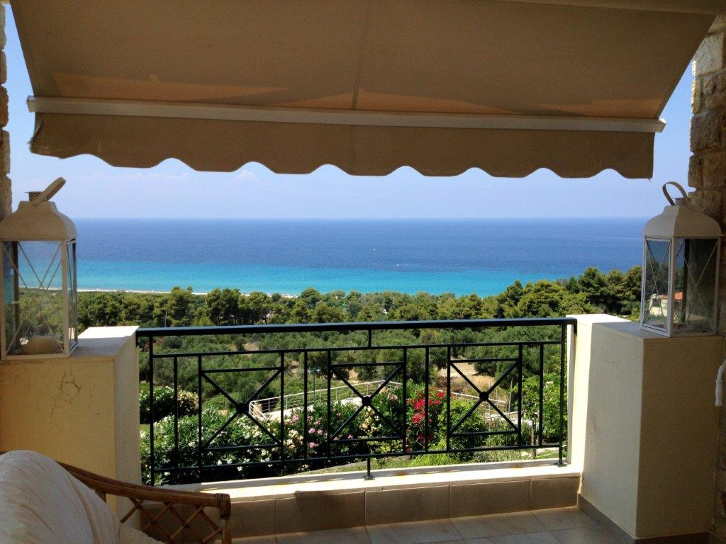 Okialos, Halkidiki-Kassandra, Greece - house for sale in the complex with pool and panoramic sea view