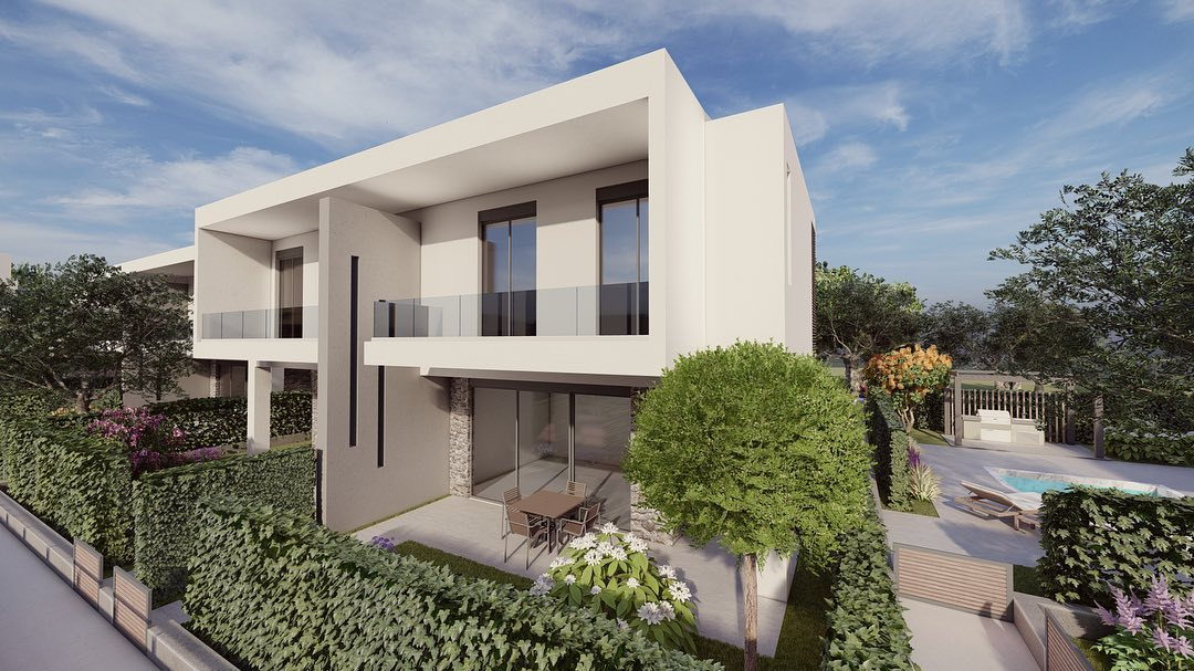 Anasa townhouses, Halkidiki-Sithonia, Greece - cottages in a new complex with the pool