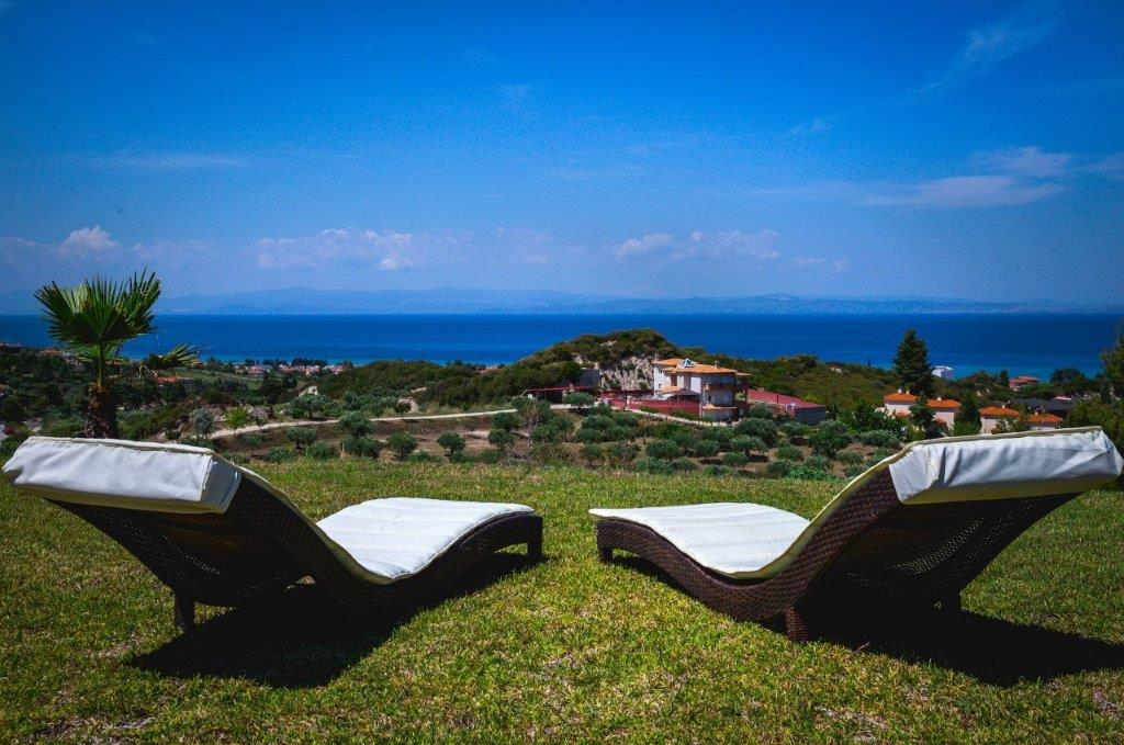 Delfini, Halkidiki-Kassandra, Greece - complex of 2 villas with panoramic view for sale