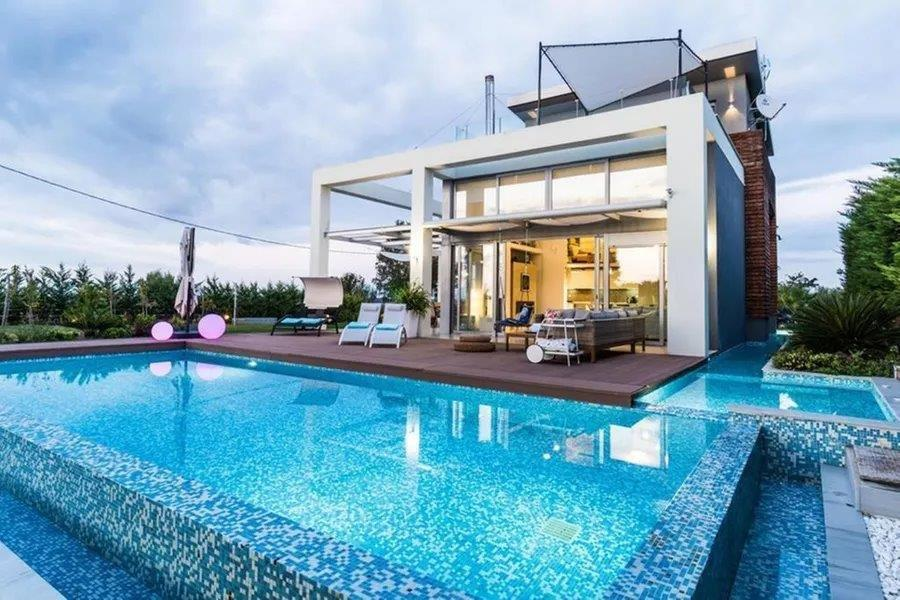 Villa Theros, Halkidiki-Kassandra, Greece - Modern villa in the prestige Sani resort area