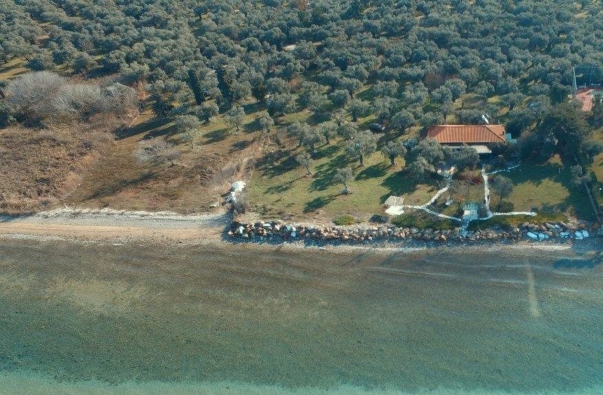 Pilos, Northern Aegean Islands, Greece - big beachfront plot with the for house for reconstruction