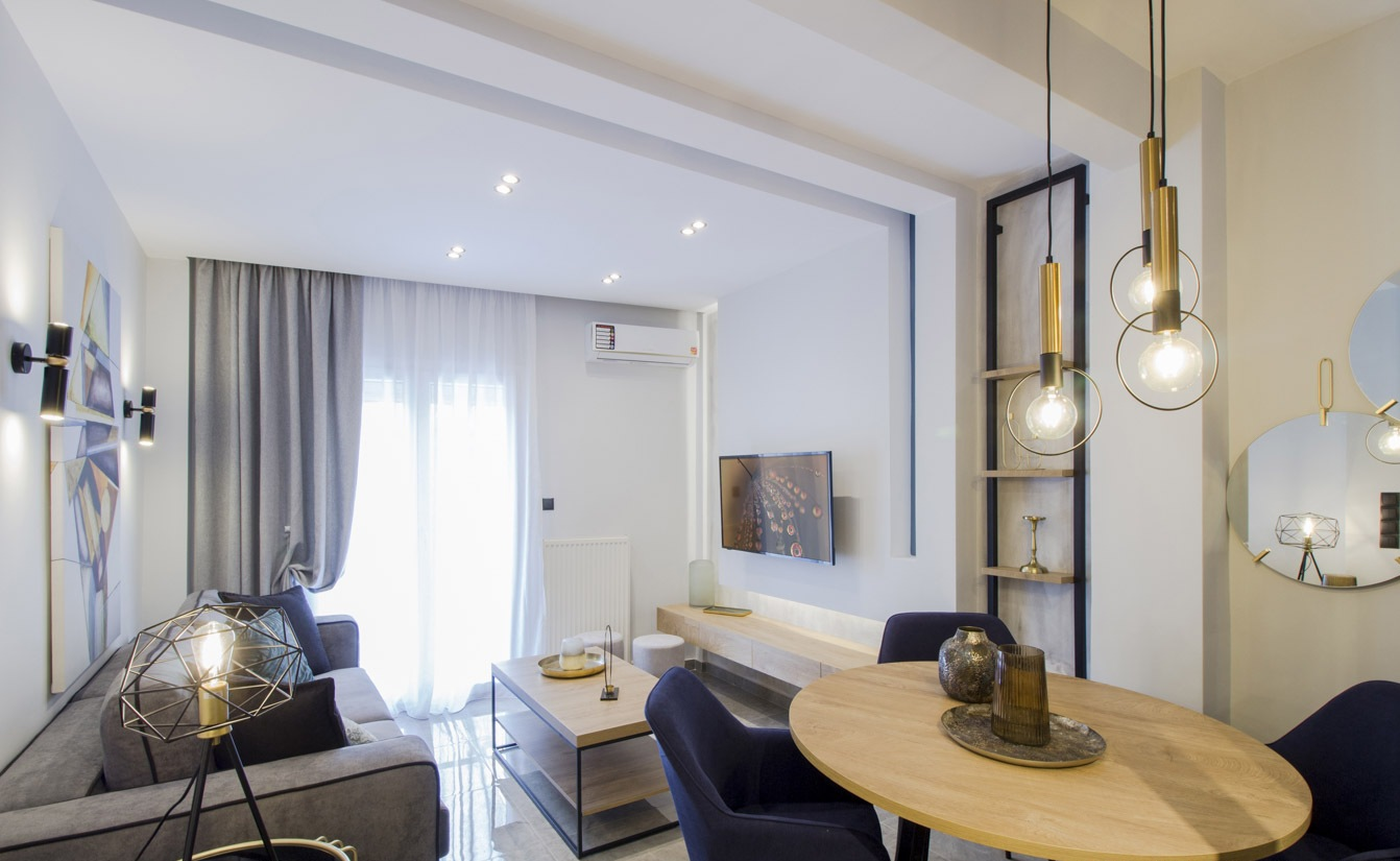 V.Olgas, Central Macedonia, Greece - fully furnished and decorated apartment after full renovation near Nea Paralia