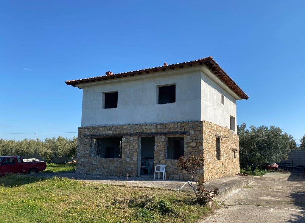 Amaksa, Halkidiki-Kassandra, Greece - house on the big plot with olive trees