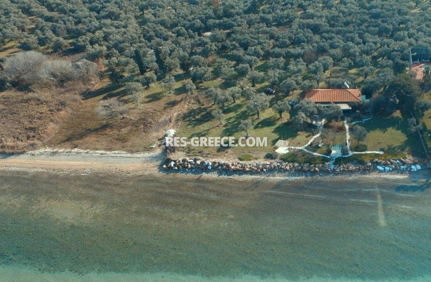 Pilos, Northern Aegean Islands, Greece - big beachfront plot with the for house for reconstruction - Photo 15